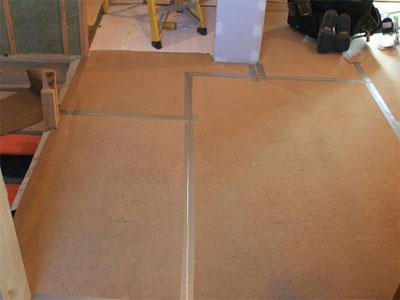 Укладка древесноволокнистых плит (ДВП) на пол
